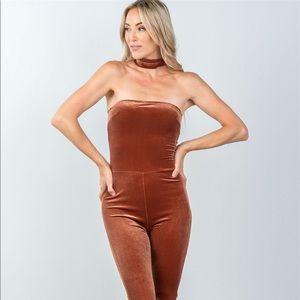 Ladies fashion zipper race back closure velvet